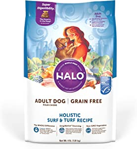 Halo Natural Dry Dog Food, Adult Recipe