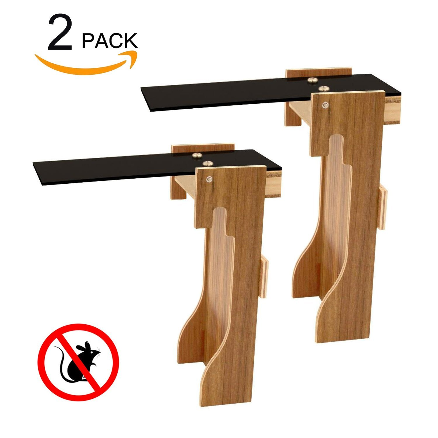 Walk The Plank Mouse Trap - willway Plank Mouse Trap Auto Reset - Humane Bucket Rat Trap - No Drilling Required - Kill Or Live Catch Mice & Other Pests & Rodents - 2 Packs yutuo