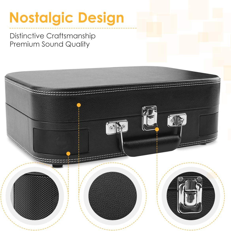 Amazon.com: Voksun - Tocadiscos portátil con Bluetooth y ...