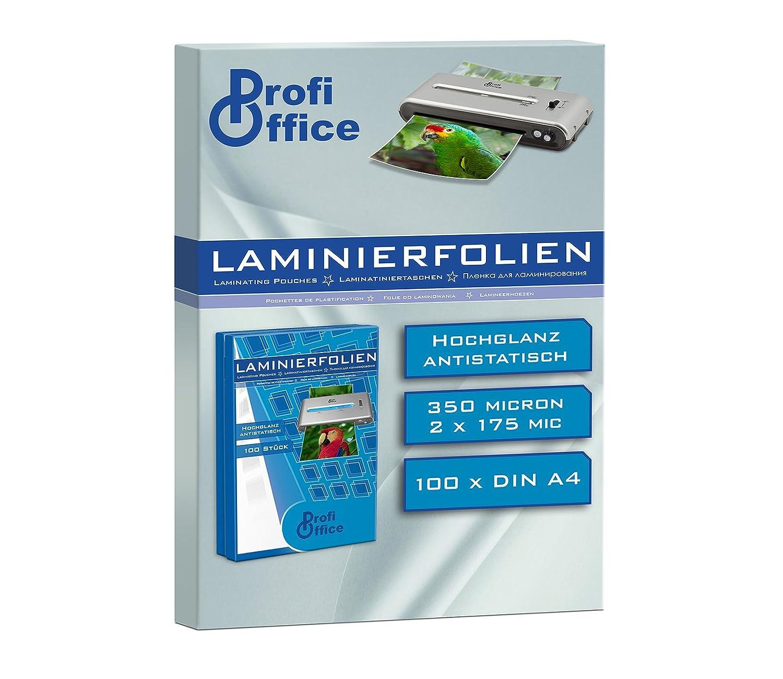 2 x 100 Mikron 19007 ProfiOffice/® Laminierfolien DIN A4 100 St/ück