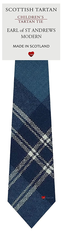 Boys Clan Tie All Wool Woven in Scotland Earl of St Andrews Modern Tartan I Luv Ltd