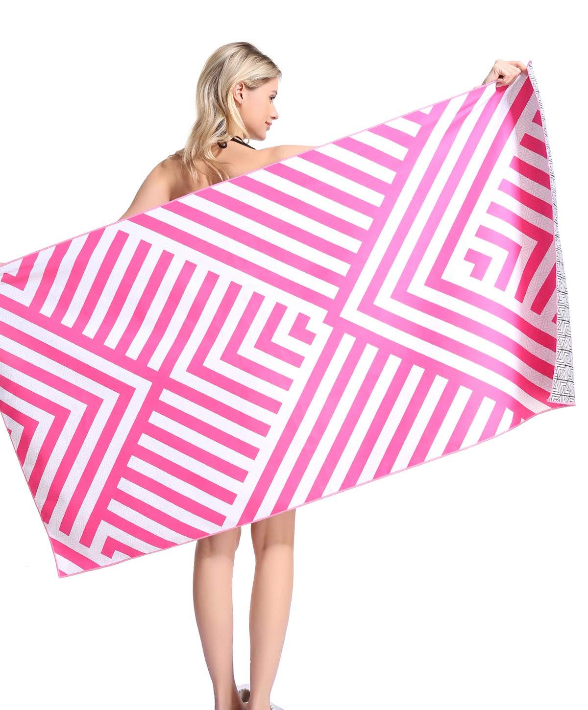 Quick Fast Dry Sand Free Proof Outdoor Travel Rack Swim Micro Fiber Thin Yoga Mat Personalized Girls Women Men Adults Body Microfiber Pool Beach Towel Blanket