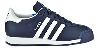 adidas Samoa Leather J Big Kids  Fashion Sneakers Navy Blue White g21252-7 787186e0f3