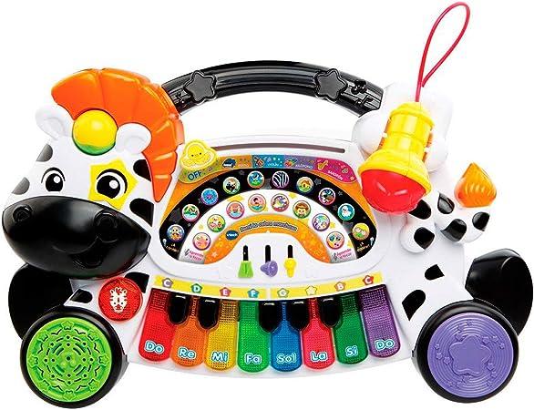 VTech- Remi la Cebra marchosa Piano Aprende Música Notas E Instrumentos con Teclado Interactivo, Multicolor, Talla Única (3480-179122) , color/modelo ...