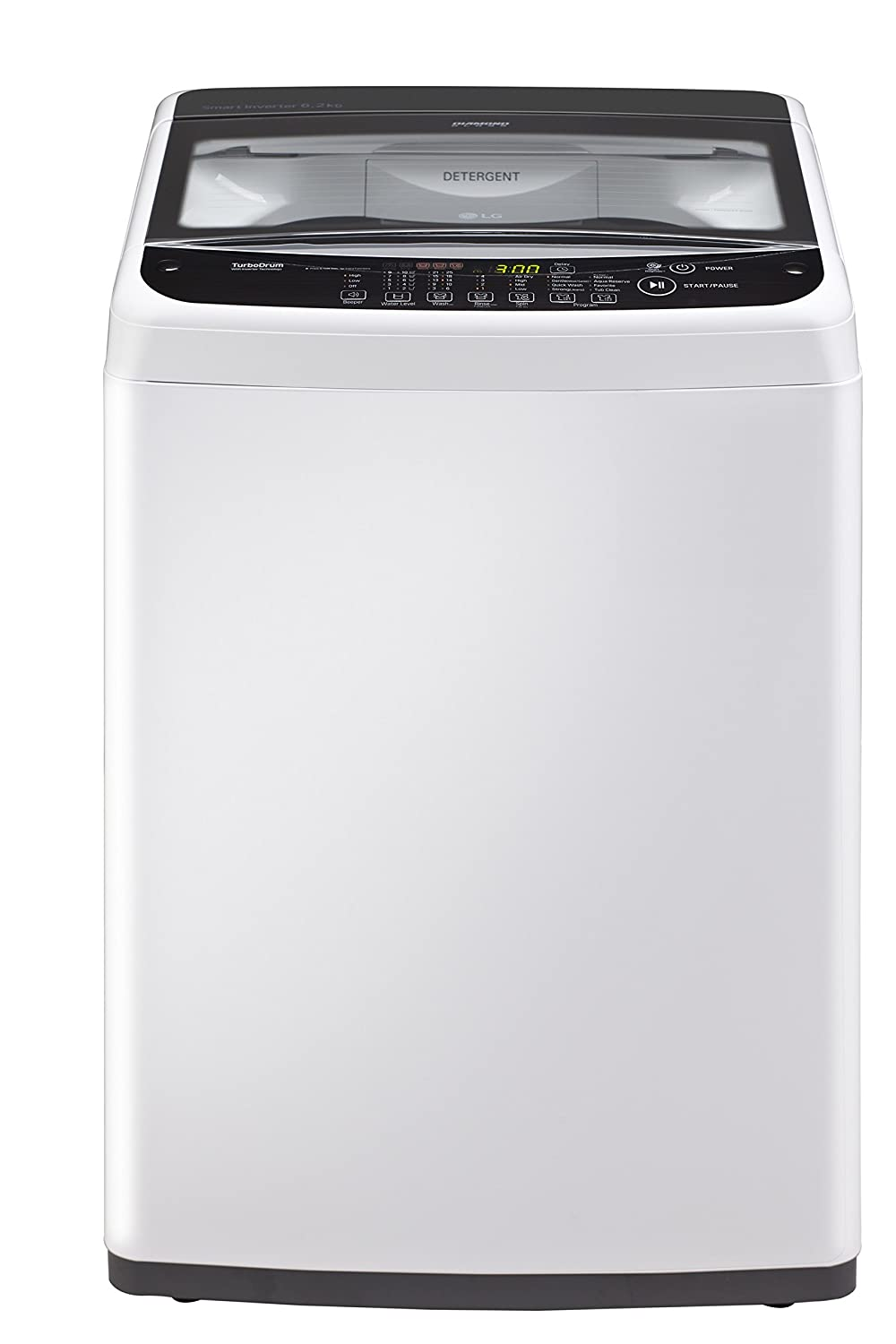 LG 6.2 kg Inverter Fully-Automatic Top Loading Washing Machine (T7281NDDL,...