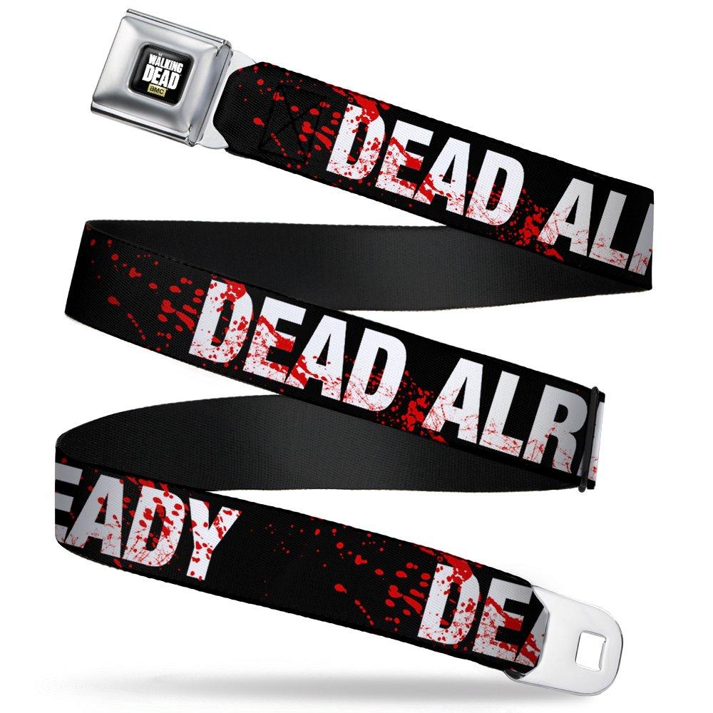 Buckle Down boys Dead Already Black/white/blood Splatter Seatbelt Belt WDA-WWD003