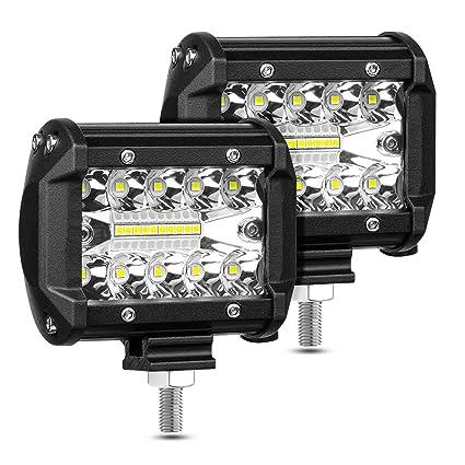 YEEGO Foco Led Faro Luces Cree IP67 Impermeable y Potentes para Todoterreno Focos 2pcs 60W 4 Camion,Tractor 2 a/ños de Garant/ía