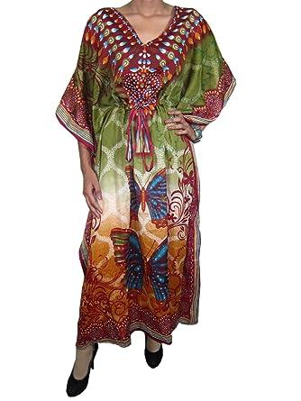 117fd5a6a5e Indiatrendzs Women s Kafan Butterfly Kimono Sleeve Dress -  X-Large    Amazon.in  Clothing   Accessories