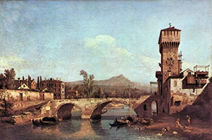 Amazon.com: The Museum Outlet - Capriccio Veneto by Canaletto - A3 ...