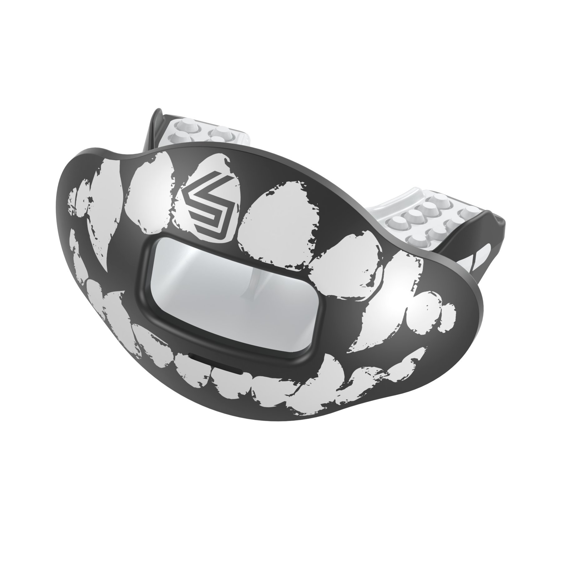 Shock Doctor Max Airflow Lip Guard/Mouth Guard. Football Mouthguard. for Youth and Adults OSFA. Breathable Wide Opening Mouthpiece. Helmet Strap Included.