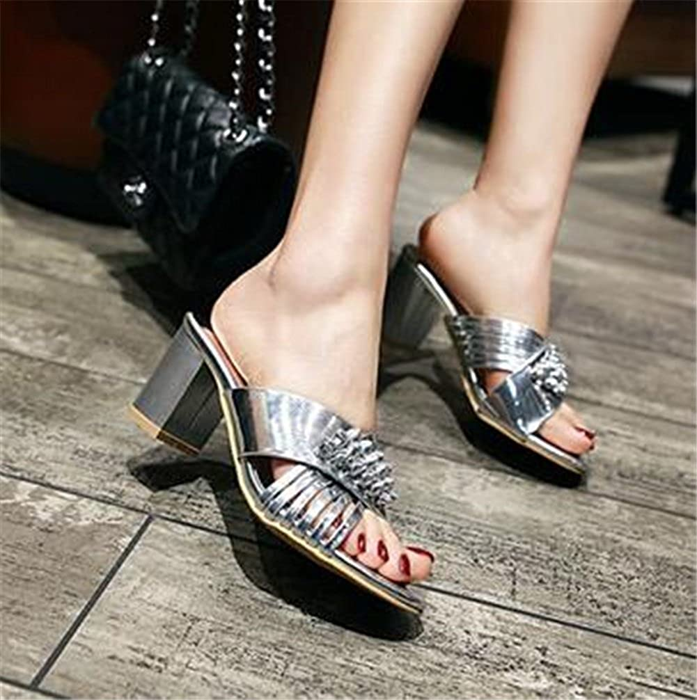 Womens Shoes Leatherette Summer Sandals Slipper Open Toe High Heels Ladies Shoes for Casual Dress Party /& Evening