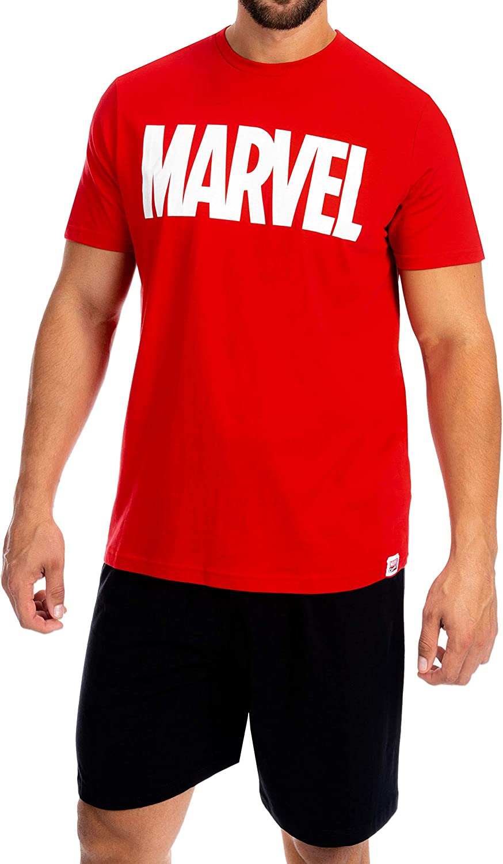 Official Marvel Comics Avengers Mens Black Pyjama set Christmas Gift Bnwt.....