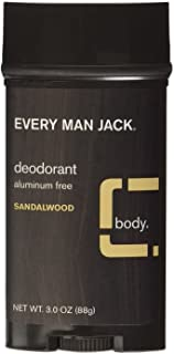 product image for Every Man Jack Deodorant Stick, Sandalwood 3 oz (Pack of 6)