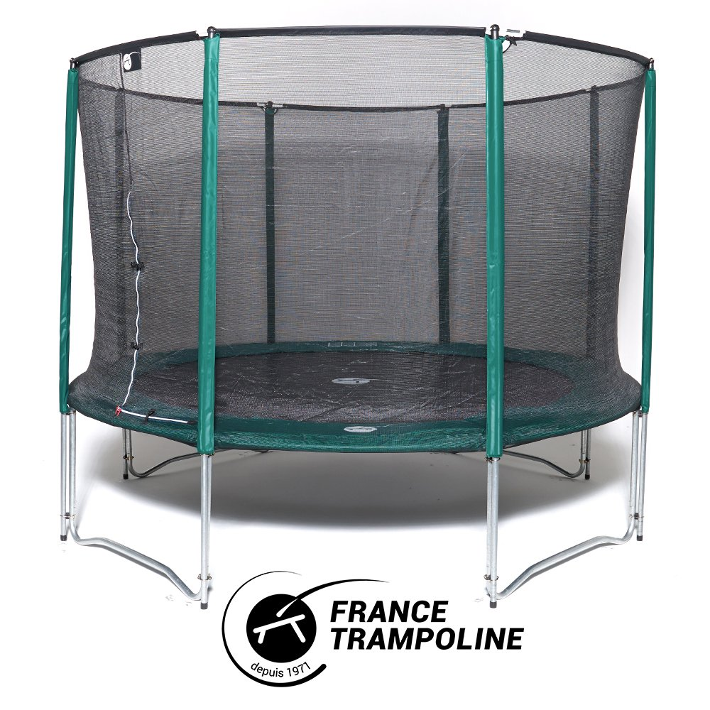 Frankreich Trampolin rund Produktreihe Familial 3 m60- Jump' Up 360 mit Schutznetz