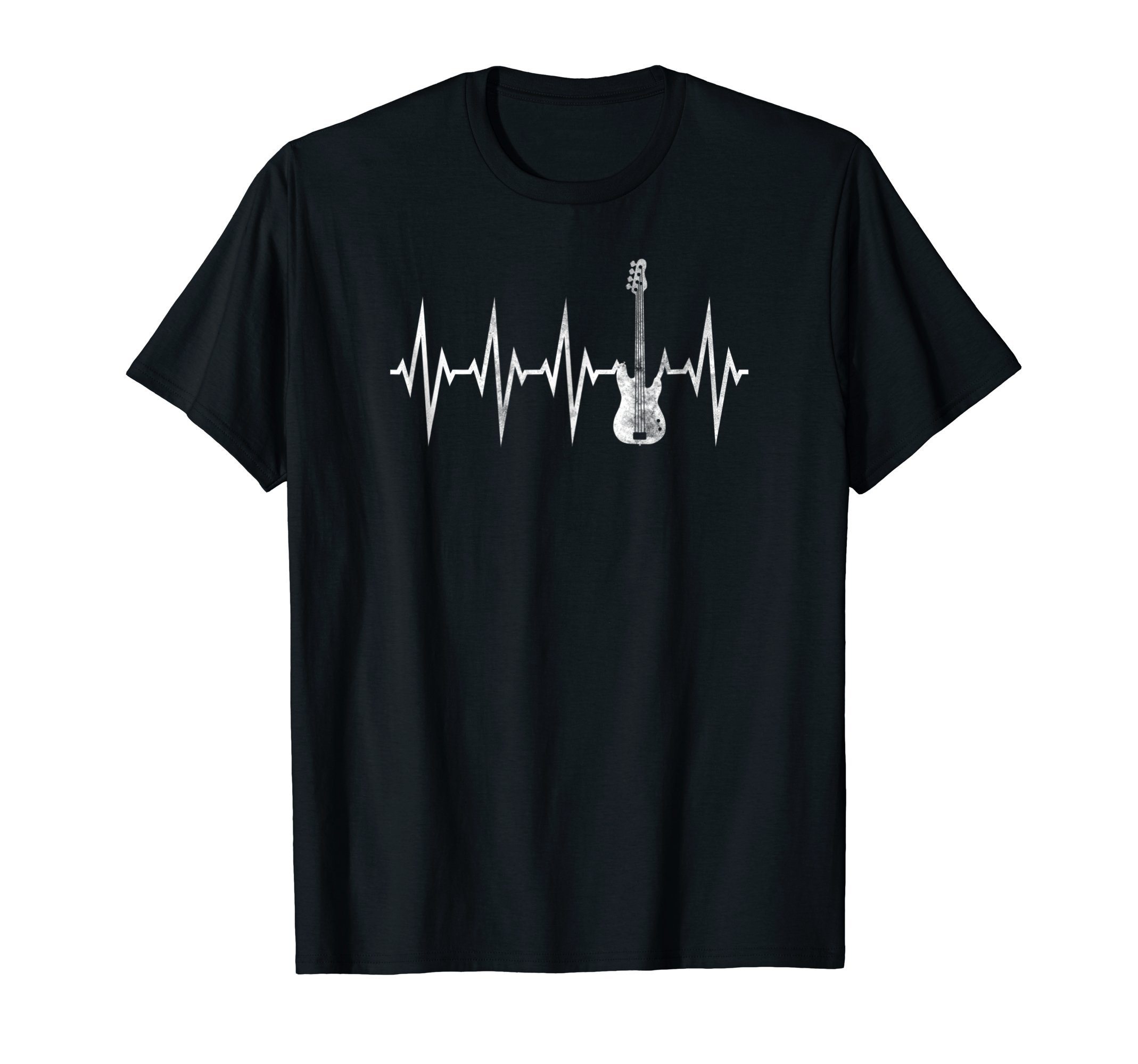 Crazy Heartbeat Electric Bass Guitar Rock Music Gift Shirt