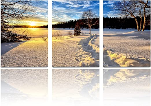 Winter Snow Canvas Art Painting Poster Living Room Picture Wall Home Room Decor