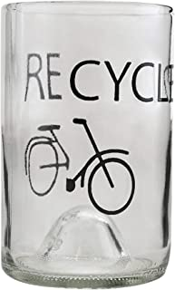 product image for Tumblers Drinking Glasses Made From Recycled Wine Bottles 12 Oz With Designs - set of 4 (Clear - Recycled, 4)