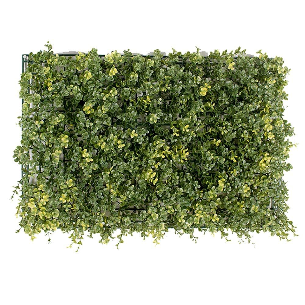 GAIGAI 16 * 24 ''人工芝壁、プラスチックプライバシーフェンススクリーンイエローマネーリーフLysimachia christinaeハンスグラスヘッジパネルマット屋内屋外トピアリー装飾偽植物壁、誕生日の背景、装飾、20個 B07SLVKQR7