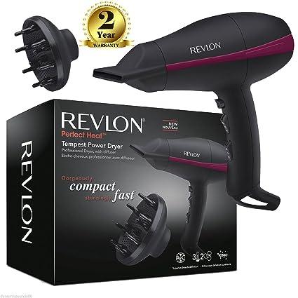Revlon Pro secador de pelo de corriente AC Tempest rvdr5821duk con difusor 2000 W