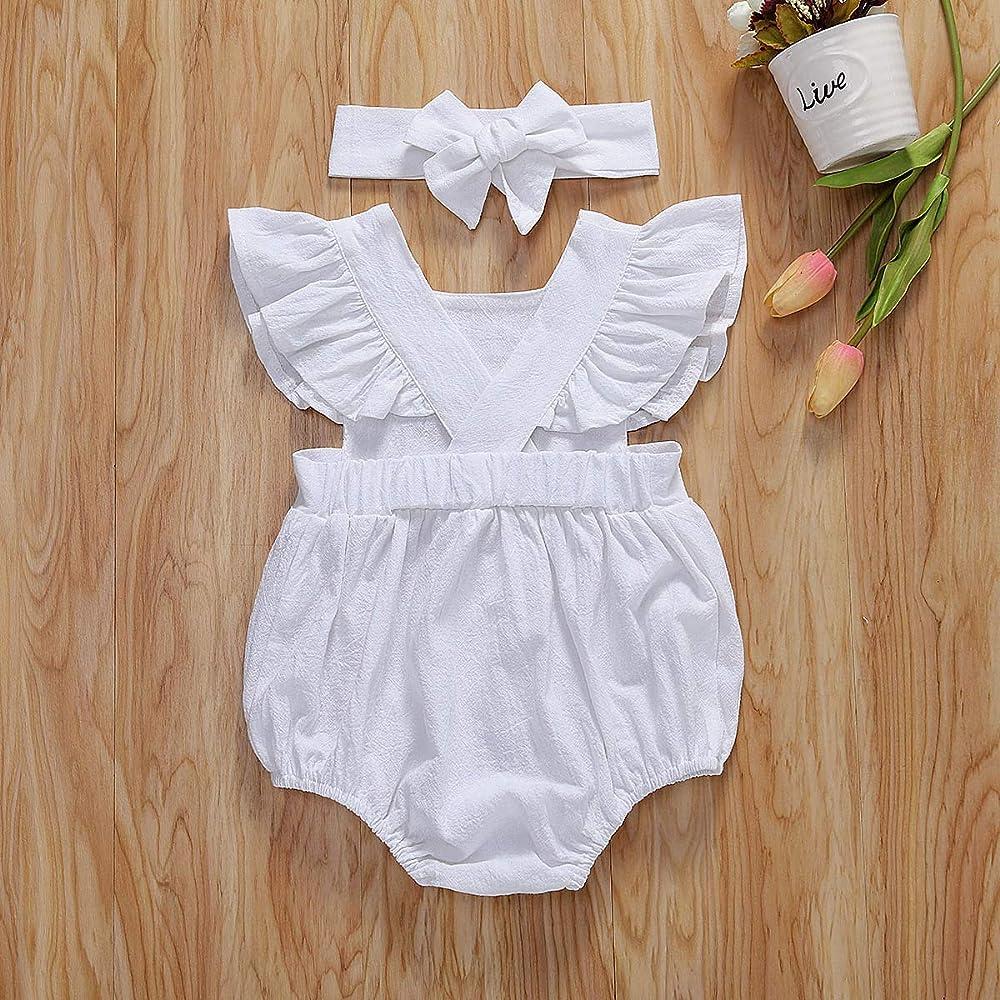 Infant Baby Girl Lace Floral Romper Jumpsuit Bodysuit Outfits Sunsuit One-pieces