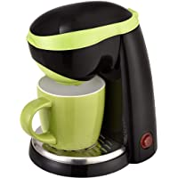 TEAM-KALORIK TKGCM1015BG GROUP 1-Tassen-Kaffeeautomat schwarz/grün