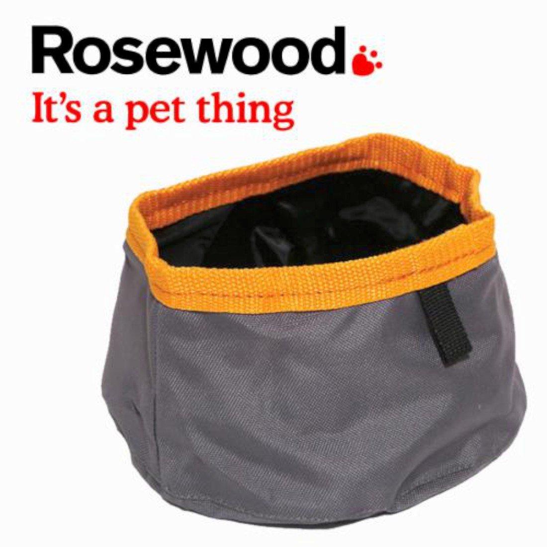 Rosewood Standard Portabowl Portable Folding Travel Food or Water Dog Bowl 1.5L