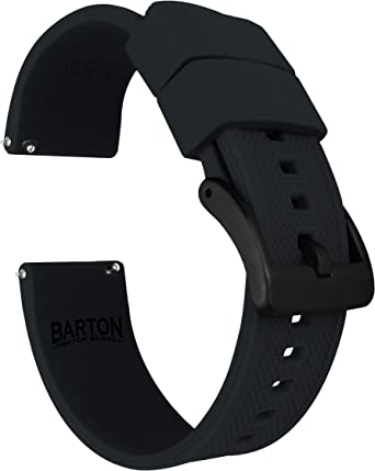 Amazon.com: Barton Elite - Correa de silicona para reloj ...