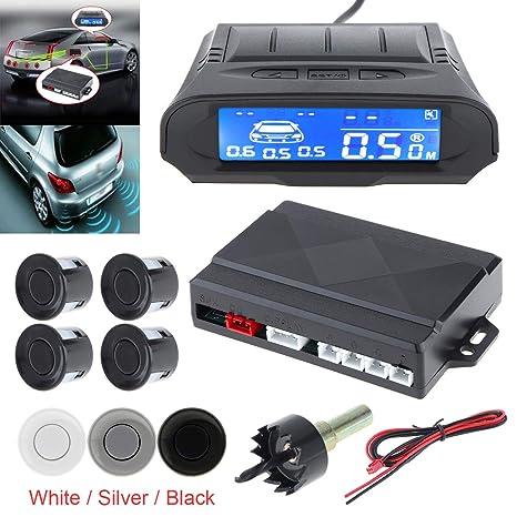 Kit de sensor de aparcamiento universal con pantalla LCD de distancia completa para coche, detector