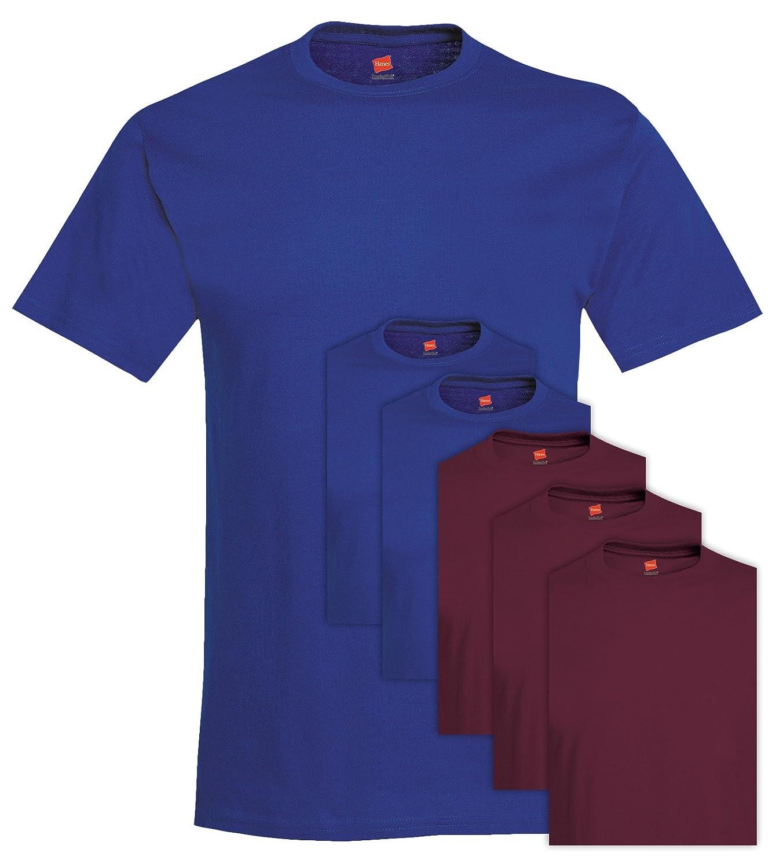 T-shirt girocollo uomo 6 pack Comfortsoft da uomo 680 3X-Large 3 Deep Royal + 3 marrone