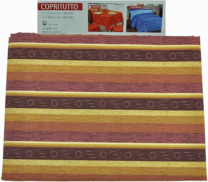 CASA TESSILE Colorado Telo arredo copritutto cm 180x280