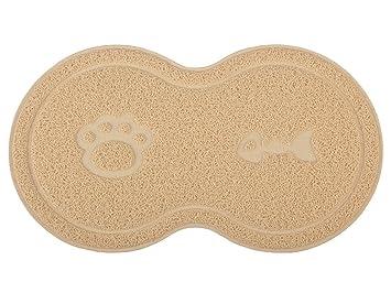 Alfombra para arena de gato en forma de 8, alfombra para gatos, felpudo, 46 x 26 cm: Amazon.es: Productos para mascotas