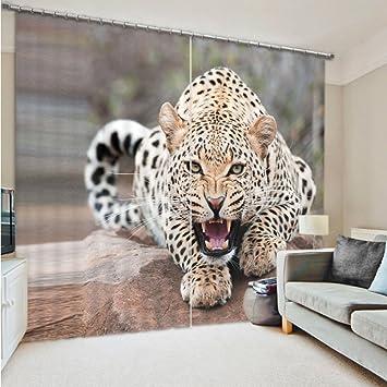 Hervorragend Verdunkelungsvorhang Ösen Gardinen Wohnzimmer Gardinen Und Vorhänge  Darkening Blackout Vorhänge 3D Effekt Tiere Print Polyester Für