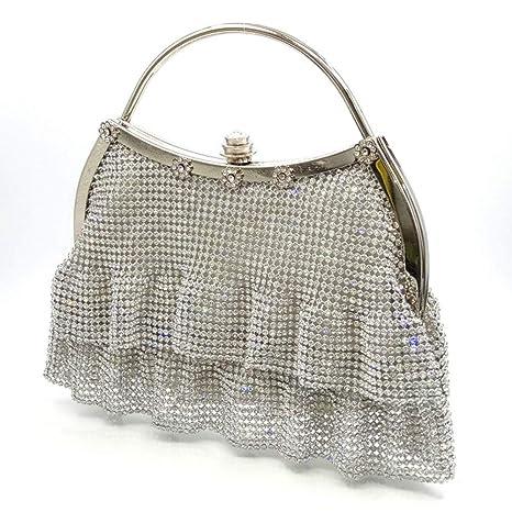 MU Falda Plisada de Diamantes de imitación de Moda Falda de Estilo ...