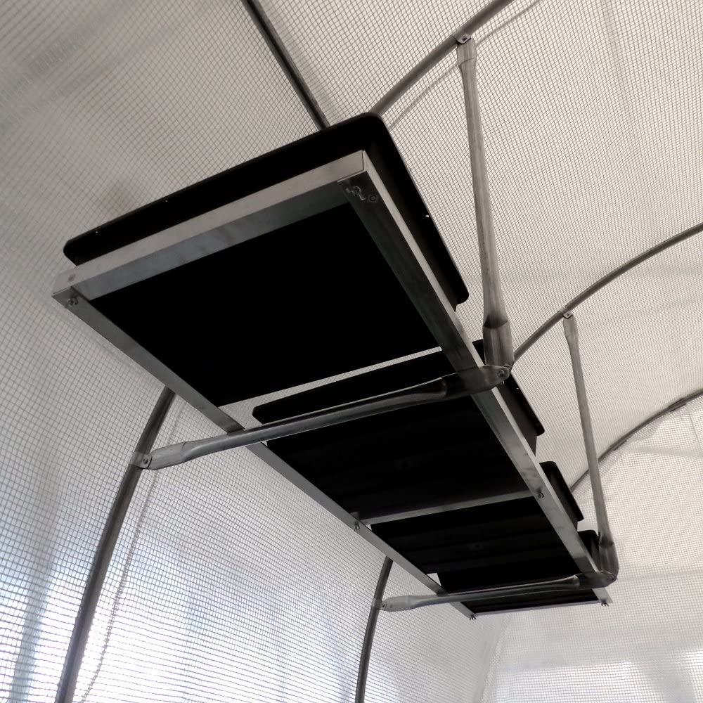 france serres etagere suspendue avec 4 bacs de culture pour serre tunnel de jardin