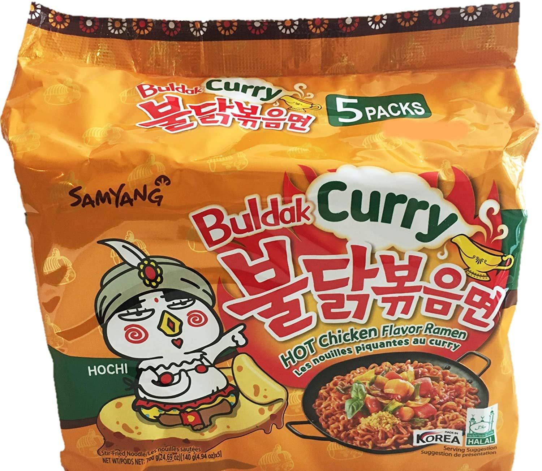 Samyang Curry Hot Chicken Flavour Ramen Noodles, 140 g