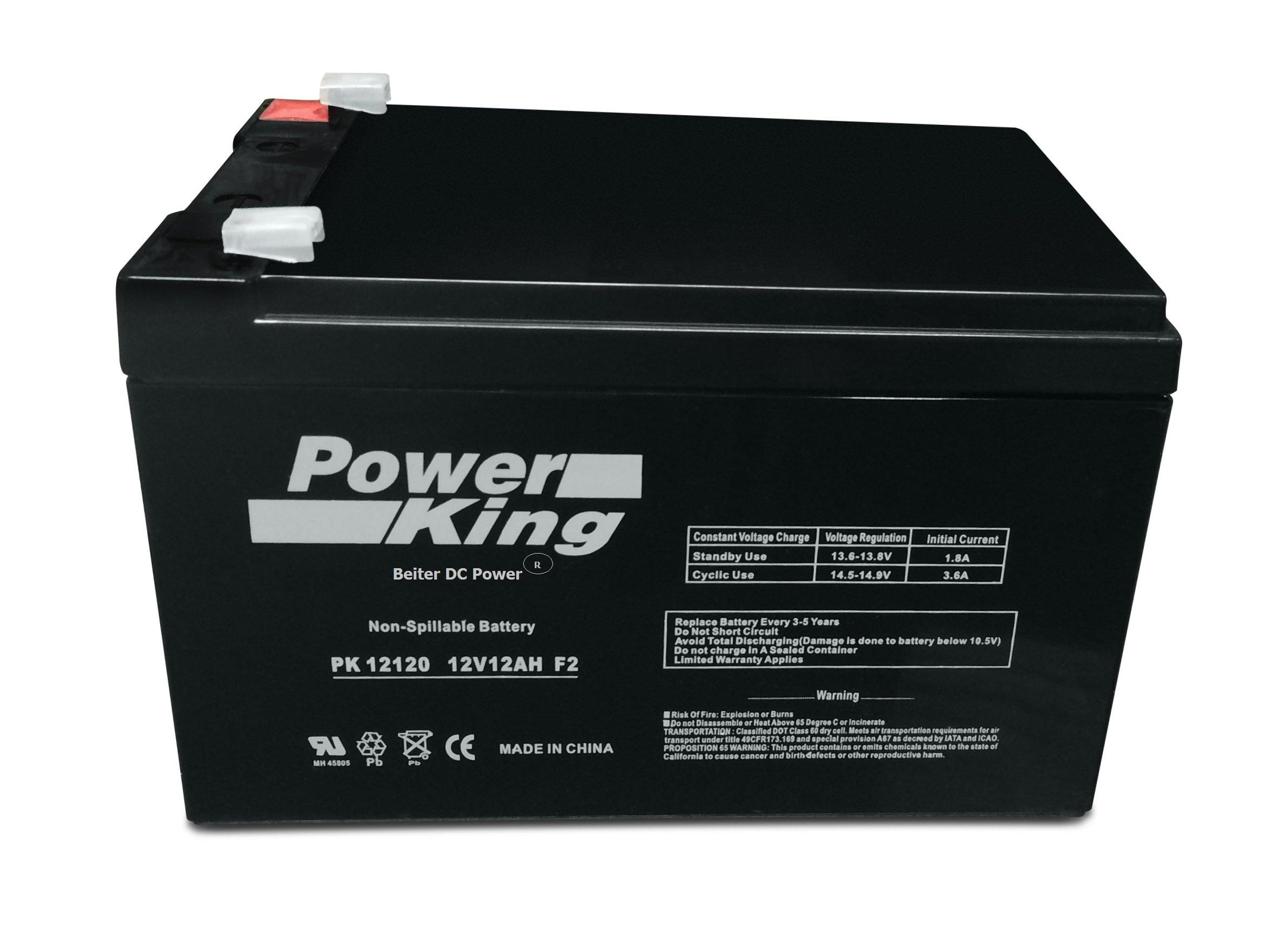 Power King 12V12ah Professional Grade SLA Battery Beiter DC Power