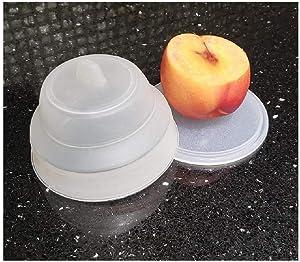 Silicone Collapsible Vegetable Saver & Fruit Keeper BPA FREE Fridge or Take a Long