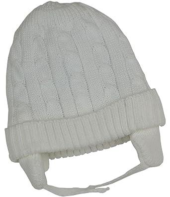 82d36611d2c08 BabyPrem Bébé Chapeau Bonnet Côtelé Hiver Chaud Vêtements Fils Filles  Unisexe 6-12 MOIS BLANC