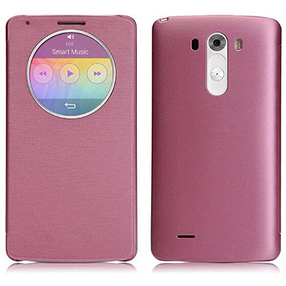 cheaper 88fb3 10489 Egmy® Hot! 2016 Quality Product Quick Circle Case Cover With Qi Wireless  Charging+NFC for LG G3 D855 D850 (Pink)