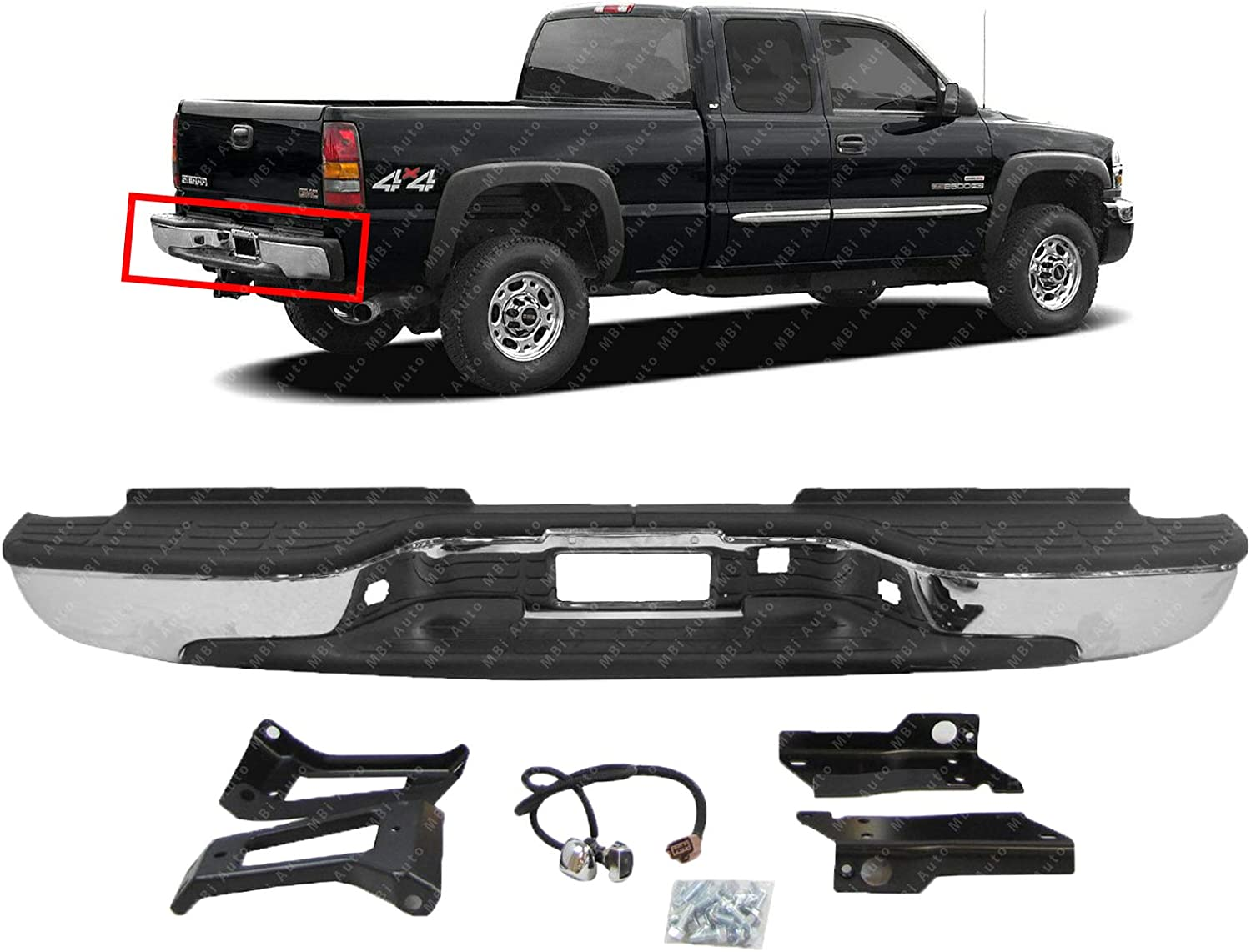 Chrome Steel BUMPERS THAT DELIVER Rear Step Bumper Assembly for 1999-2006 Chevy Silverado /& GMC Sierra 2500 3500 HD /& 2007 Classic Pickup GM1103129