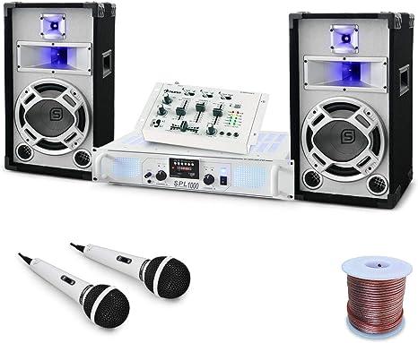 Set DJ PA Wedding Fox Mesa mezclas Amplificador Altavoces: Amazon.es: Instrumentos musicales
