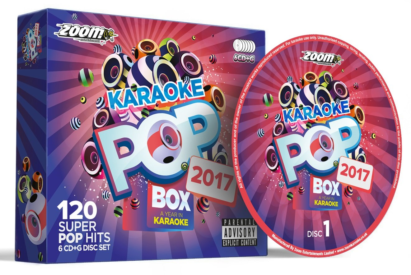Zoom Karaoke Pop Box 2017: A Year In Karaoke - Party Pack - 6 CD+G Box Set - 120 Songs by Zoom