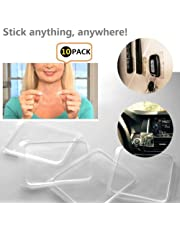 Etbotu Sticky Gel Pads,Portable Non-slip Mats,Transparent Quite Soft Silicone,Anti-slip for Phone Floor Mat & Anything,Stick Anywhere,5 or 10PCS