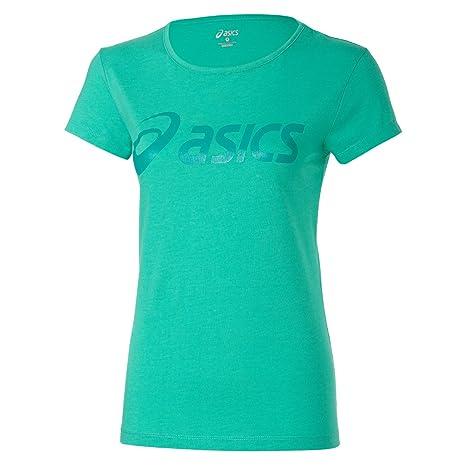 Verde 's Amazon es Camiseta Asics Logo Women Mujer Logo w1HqHAxvY