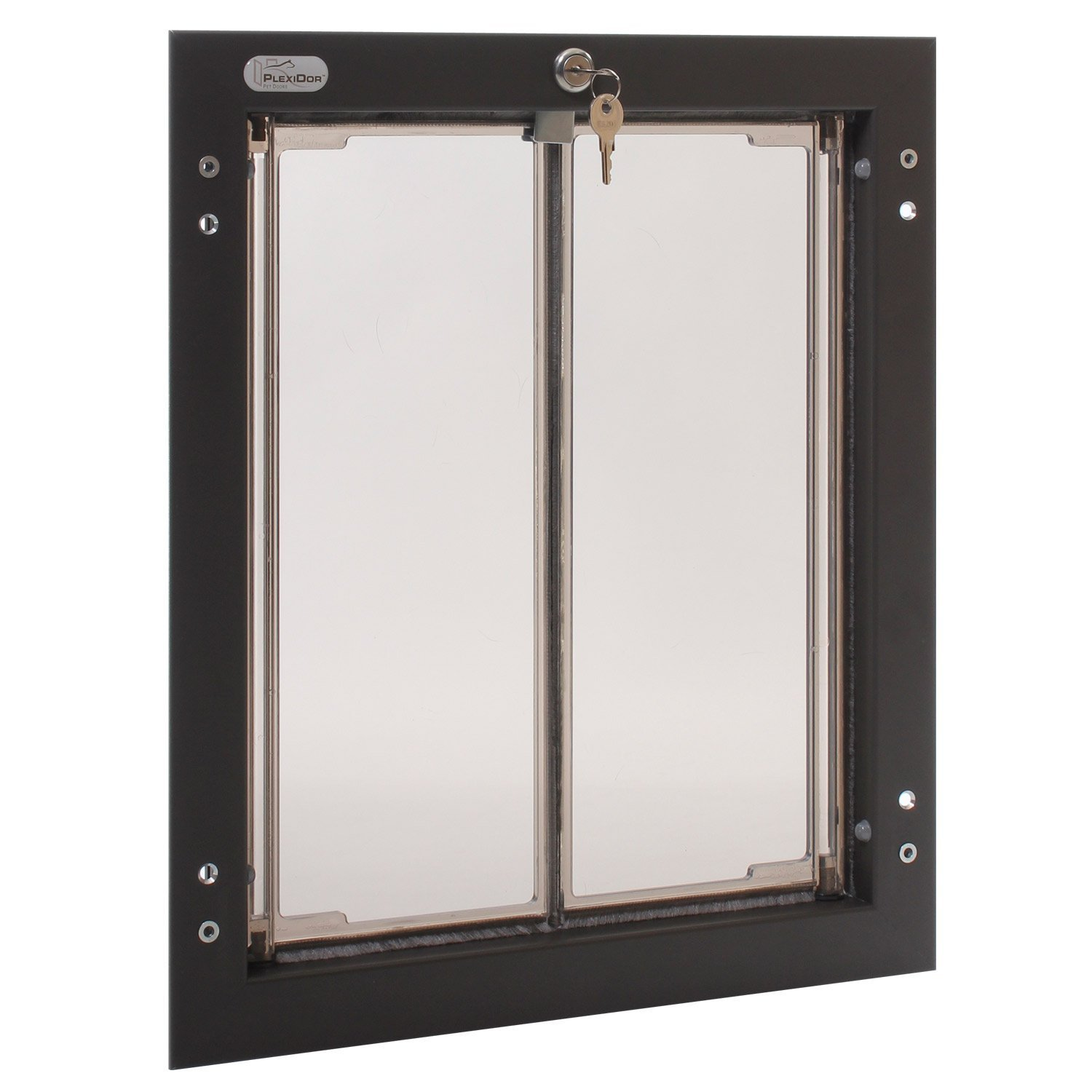 Wall Mounted PlexiDor Performance Pet Door for Large Sized Dogs in Bronze
