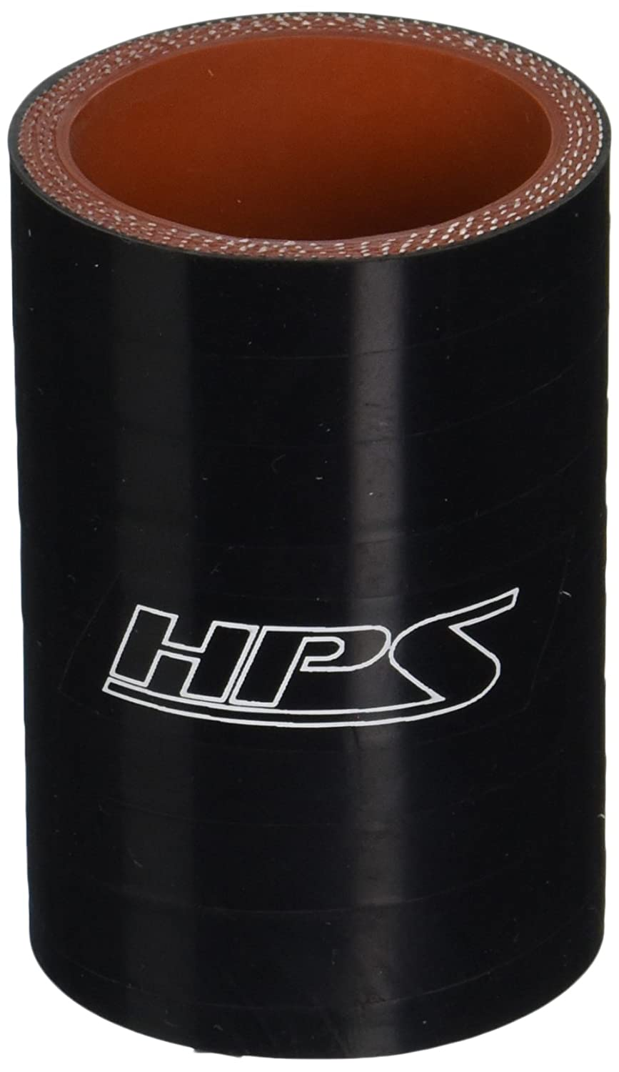 HPS Silicone Hoses HTSC-162-BLK Silicone High Temperature 4-Ply Reinforced Straight Coupler Hose, 100 PSI Maximum Pressure, 3' Length, 1-5/8' ID, Black 3 Length 1-5/8 ID