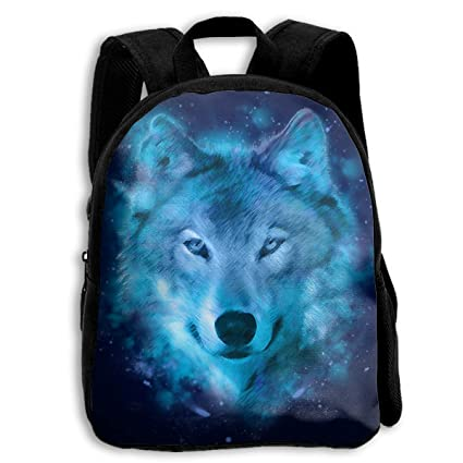 Amazon.com: Blue Wolf Night Mochila escolar para niños ...