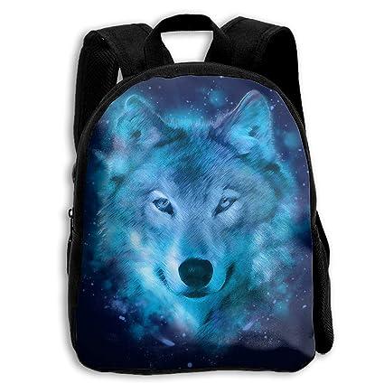 Amazon.com: Blue Wolf Night Mochila escolar para niños ...