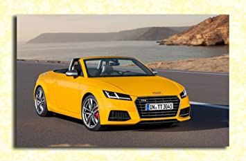 Tamatina Cars Wall Poster - Audi TT - Yellow - Sports Car - HD Quality Wall  Poster: Amazon.in: Home & Kitchen