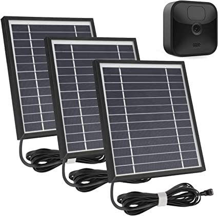 3 Pack, Black 11.8Ft Outdoor Power Charging Cable and Adjustable Mount,Weatherproof Aluminum Alloy Material iTODOS Solar Panel Compatible with Blink XT XT2